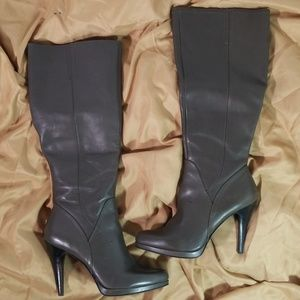 Nine West Grey Platform Knee Boots